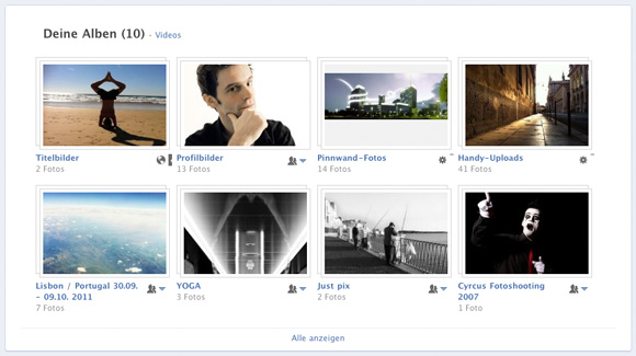 Facebook Chronik Fotoseite