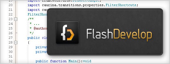 FlashDevelop Source-Code-Editor